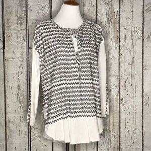 Free People Intimates chevron boho peasant top